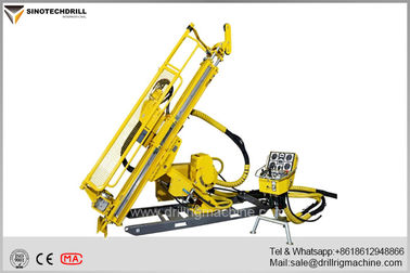 Deep Hole Hydraulic Underground Core Drill Rig With PQ & HQ Max Rod Size 160Cc Rotation Motor